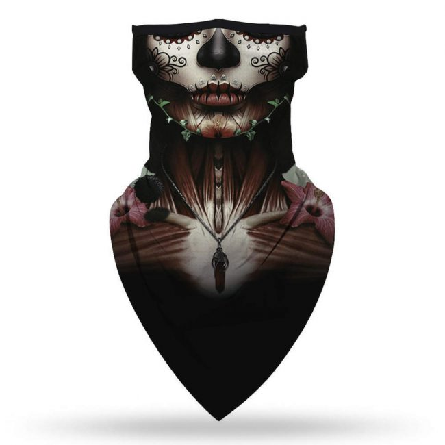 Skull Skeleton Neck Gaiter Mask