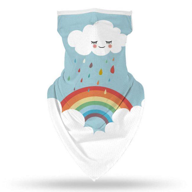 Rainbow Cloud Face Mask/Neck Gaiter