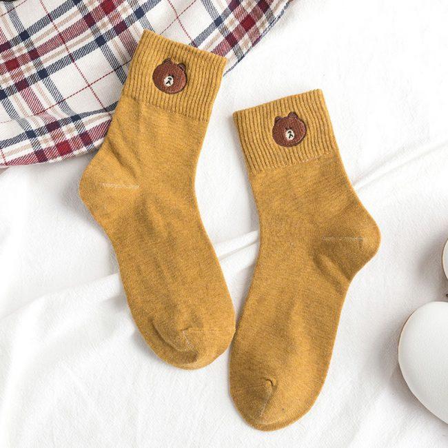 Bear Socks Yellow