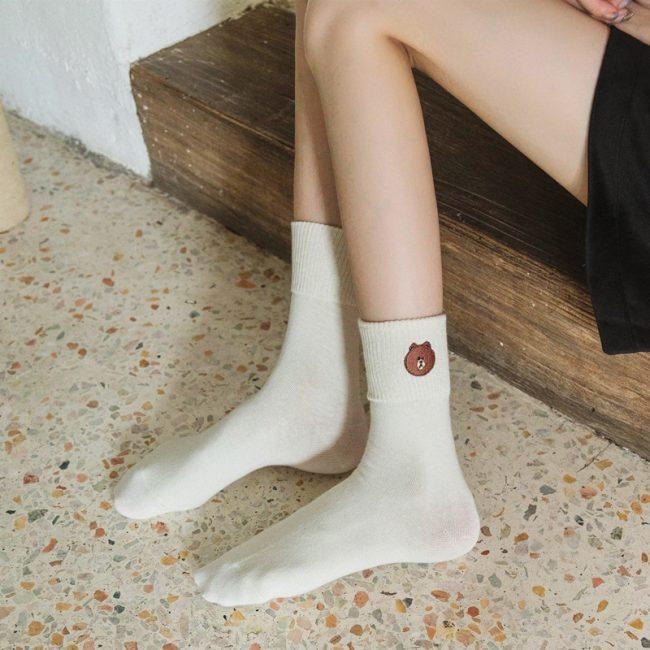Bear Socks White