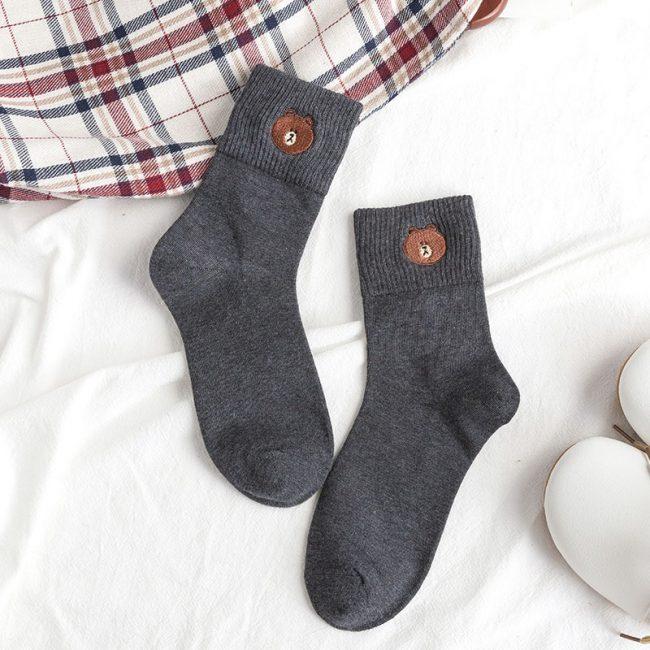 Bear Socks Dark Blue