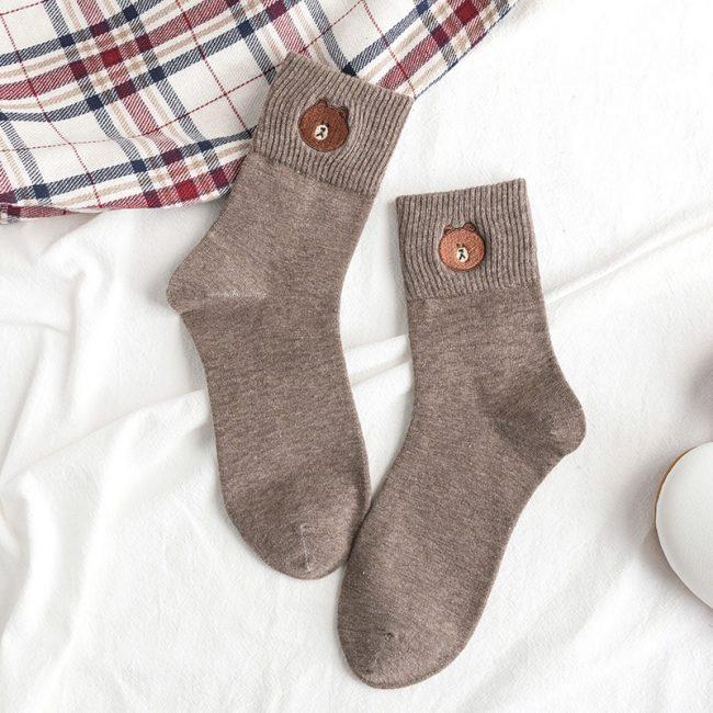 Bear Socks Gray