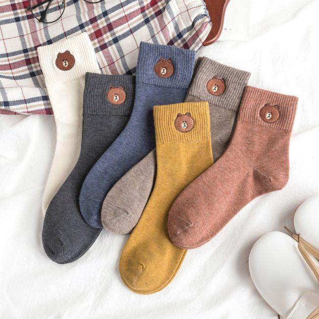 Bear Socks 6-Pack Womens