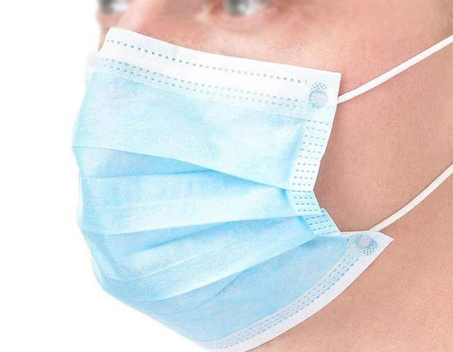 Disposable Face Masks (Pack of 50 PCS) Blue 3 ply